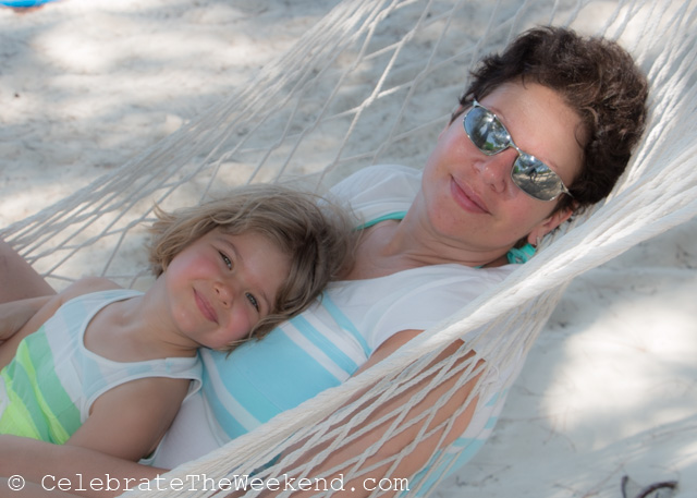 Relaxing in a hammock on Half Moon Cay