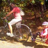 Biking at Cape Cod Rail Trail