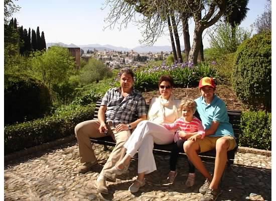 Exploring Alhambra on a family journey across Spain