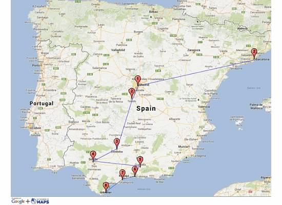 3 Generations Travel accross Spain