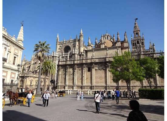 Seville Cathedral is the third largest church in the word and the largest Gothic Cathedral. It is the burial site of Christopher Columbus.
