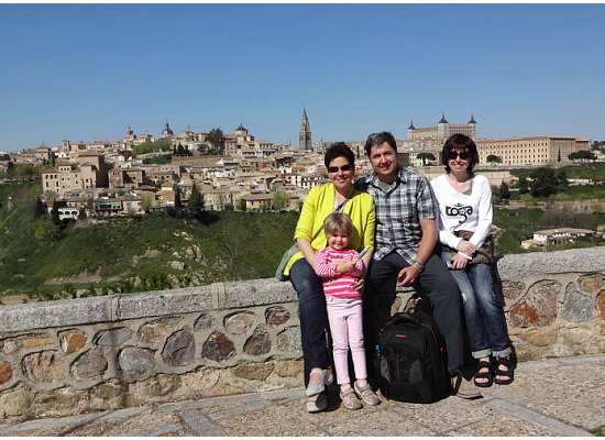 Toledo group stops at one of El Greco's viewpoints