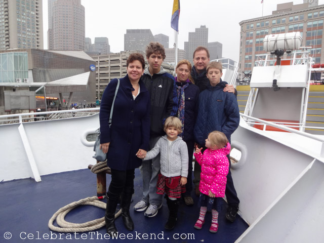 Beating rain and wind during the Constitution tour of Boston Harbor