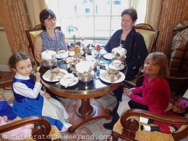 Enjoying afternoon tea at Taj Boston to celebrate International Women's Day