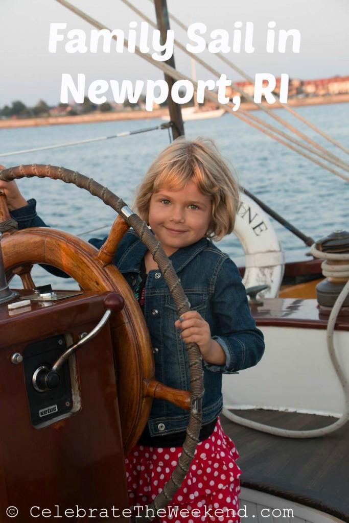 Family Sail in Newport Harbor, Rhode Island